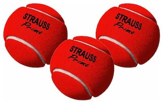 Strauss Heavy Weight Cricket Ball, Pack of 3 (Red)