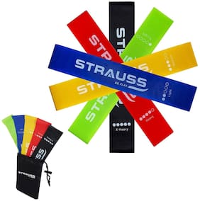 Strauss Multi Rubber Resistance band - Set of 5