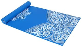 Strauss Meditation Butterfly Yoga Mat, 5 mm, (Navy Blue)