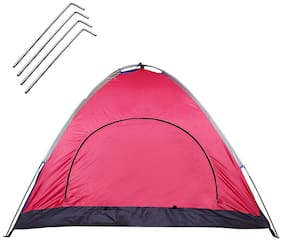 Strauss Portable Waterproof Camping Tent, 4 Persons (Multi Color)