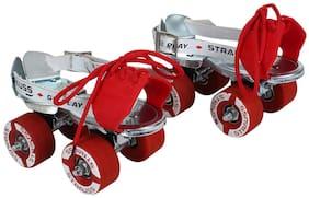 Strauss Tenacity Roller Skates, Silver (6-8 years age)