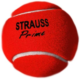 Strauss Tennis Cricket Ball (Red;Heavy Weight) Pack of 6