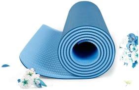 Strauss TPE Eco Friendly Dual Layer Yoga Mat, 6mm (Blue)