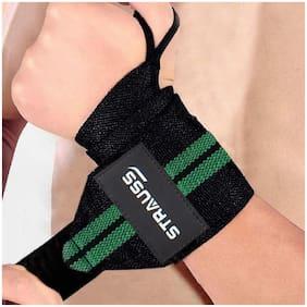 Strauss WL Cotton Wrist Support Green 1 Pair