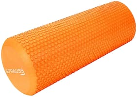 Strauss Yoga Foam Roller, 45 CM, (Orange)
