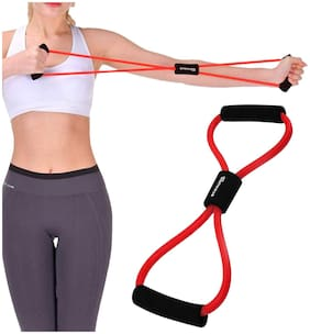 Strauss Yoga Soft Chest Expander, (Red)