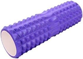 Strauss Yoga Foam Massage Roller 33cm, (Purple)