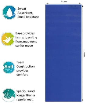 Strauss Yoga Mat  6mm (Blue)