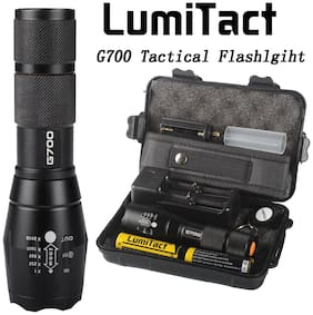 Super-bright 12000lm Lumitact G700 LED Tactical Flashlight Military Torch Lamp