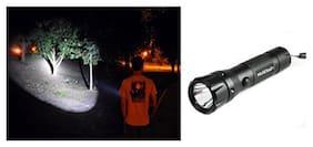Super nice Police LED Flashlight Torch Aluminium Alloy Body Handheld LED Torch, Box Pack 11cm.