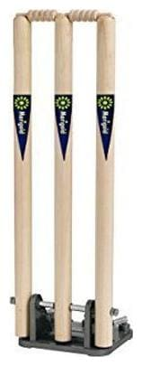 Surjeet Sports spring wooden stumps along with 2 bails and spring base