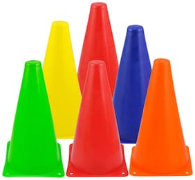 """surjeet sports 20 pcs of marker cones for sports, legs exercises,fitness size 6"""""""