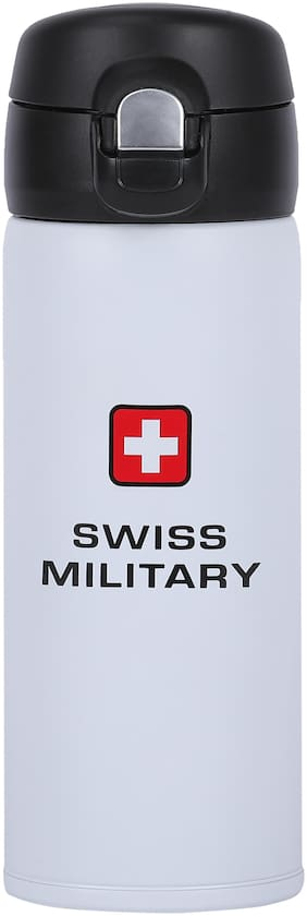 Swis Military SMF2 White 201 Stainless Steel Vacuum Flask 350 ml