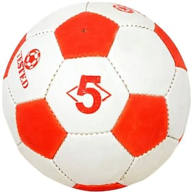 SYNTHETIC FOOTBALL RED/WHITE SIZE-5 (PACK OF 1)