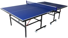 Table Tennis Table Top Thickness 15 Mm with Net Set with Wheel