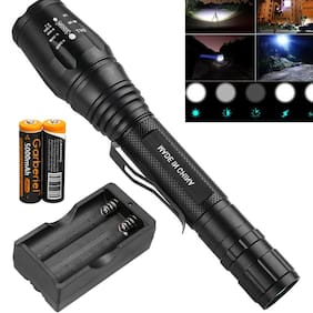 Tactical 990000LM T6 LED 5 Modes 18650 Flashlight Zoom Rechargeable Torch Light