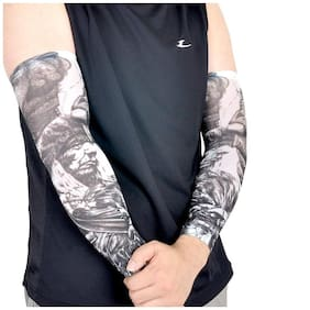 Tattoo Sleeve Pair Printed Sports Sun Cream Hand Long Cuff Cycling Bicycle Hand Cover Sports Outdoor Air Bike Cuff Cover UV Protect