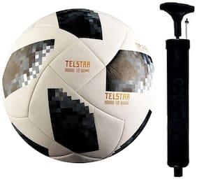 Telstar PU Football BLK-01 with Pump