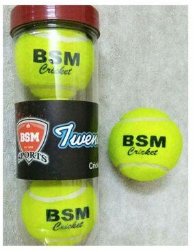 TENNIS CRICKET  BALL   GLASS PACK OF THREE BALLS