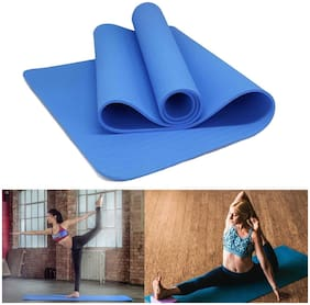 The Brand Store 4mm Yoga Mat with Anti-Slip Surface & Waterproof Eva Material for Unisex (Pack of 1) Blue