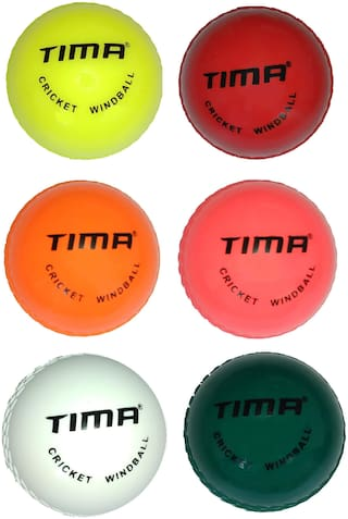Tima Cricket Wind Synthetic Balls Wind Ball Practice Balls Poly Balls Excellent for Youth Practice Cricket Ball Pack of 6 (Non Toxic)