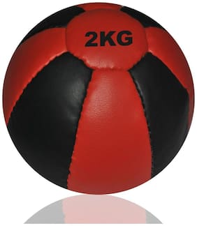 Tima Leather Medicine Ball - Size: 2  (Pack of 1, Multicolor)