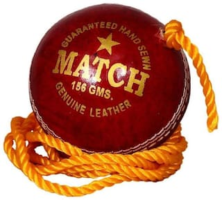 Tima PTM Match Red Leather Practice Hanging Cricket Ball