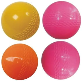Tima PTM Sports Wind Cricket Ball - Size: 5  (Pack of 4, Multicolor)