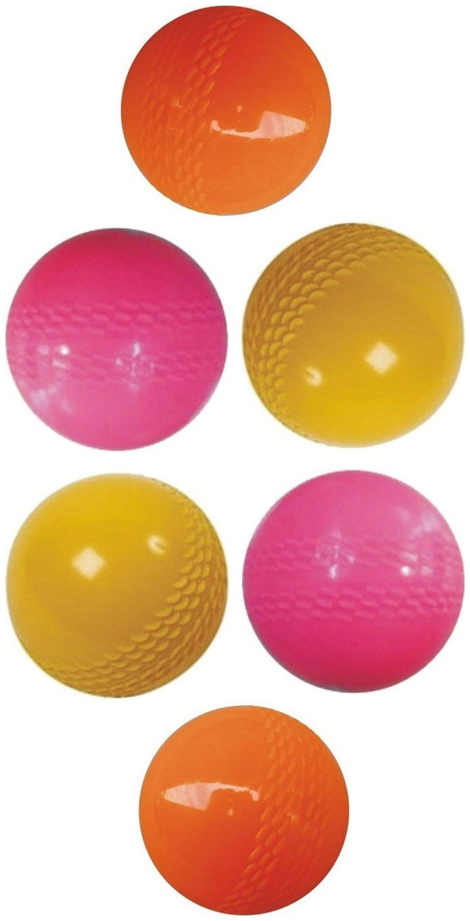 Tima PTM Wind Cricket Ball   Size: Standard  Pack of 6, Multicolor  by Tima International