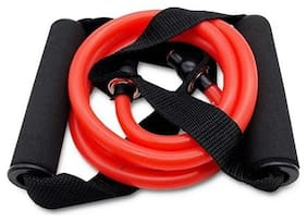 Toning Tube Resistance Tube for Home and Outdoor Workout - Red - Medium