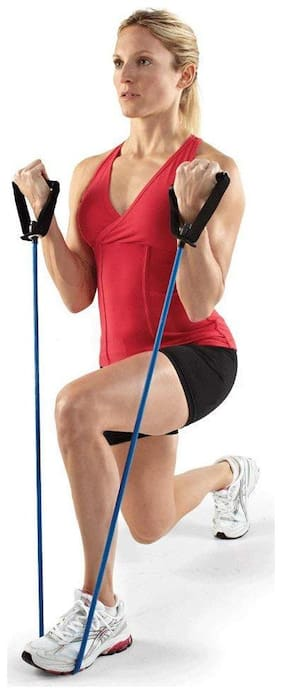 Toning Tube Resistance Tube  With Foam Handles For Exercise And Fitness