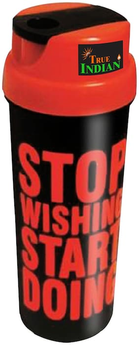 TRUE INDIAN 700 ML SHAKER PROTEIN SHAKER BOTTLE, SHAKE WATER BOTTLE  (RED)