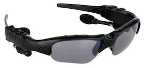 TSV On Ear Bluetooth V4.1 Sunglasses For Wireless Connectivity Black