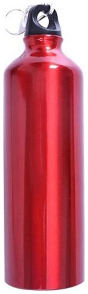 Tuelip Aluminium Durable Sports Sipper Water Bottle For College,School Bottle 750 ML With Carabiner -(Red)