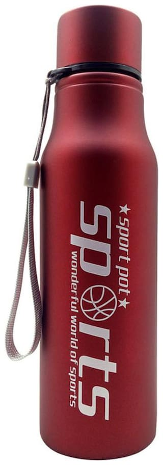 Tuelip Trendy Sporty Look For Sports,Gym,Bike Riding,Hiking,Mountain Climbing 750 ml Water Bottle -Red