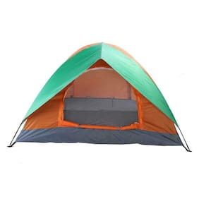 Two 2 Person Tent WaterProof Pop Up Compact Light Camping Shelter Hiking BBQ