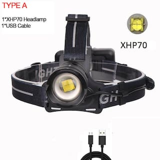 Ultra Bright 99000LM XHP70 LED Headlamp Rechargeable 3Modes Zoom Headlight 18650