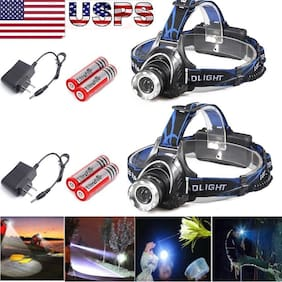 Ultra Lumens T6 LED Zoomable Headlamp Rechargeable  Headlight Head Lamp New