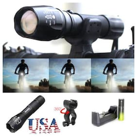 Ultrafire Flashlight 50000LM T6 LED Bicycle Light Car Mount Torch Holder+Charger