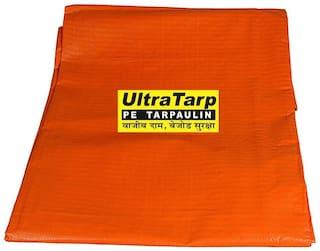 UltraTarp PE Tarpaulin (06 ft x 09 ft) - 180 GSM Orange 100% Pure Virgin UV Treated