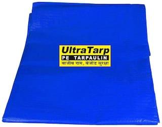 UltraTarp PE Tarpaulin (12 ft x 15 ft) - 200 GSM Blue 100% Pure Virgin UV Treated