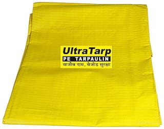 UltraTarp PE Tarpaulin (12 ft x 15 ft) - 200 GSM Yellow 100% Pure Virgin UV Treated
