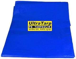 UltraTarp PE Tarpaulin (12 ft x 09 ft) - 120 GSM Blue 100% Pure Virgin UV Treated
