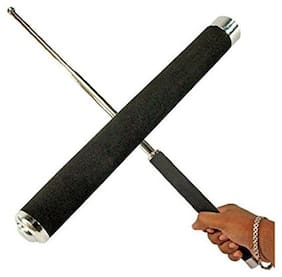 Un-Tech Portable Telescopic Foldable Black Iron Folding Stick for Camping and Hiking 26 inch