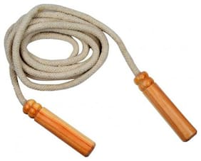 Urban Gear Unisex Fitness Jumping Skipping Rope with Wooden Handle for Weight Loss, Gym Training ,Exercise & Workout