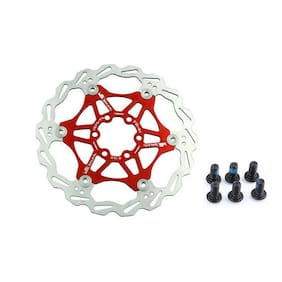 US Mountain Bike Bicycle Brake Disc Floating Pads 160/180/203mm 6Bolt Rotors 1PC