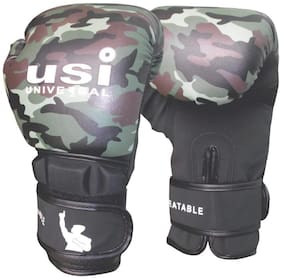 USi Contra Training Boxing Gloves Synthetic Leather Made Ultra Strong Light weight Pair In Army Print
