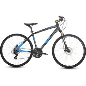 UT H2D 21 Speed Adult Bicycle-Black And Blue