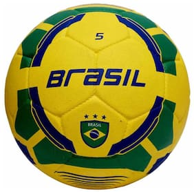 Vector X Brasil Rubber Moulded Football-Multicolor (Size-5)