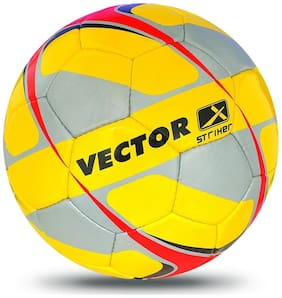 Vector X Striker Football (Yellow-Grey-Red) (Size-5)